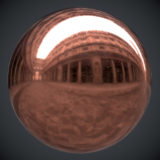 Scuffed Copper PBR Metal Material