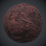 Water Worn Reddish Rock 1 PBR Material