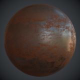 Pitted Rusted Iron PBR Metal Material