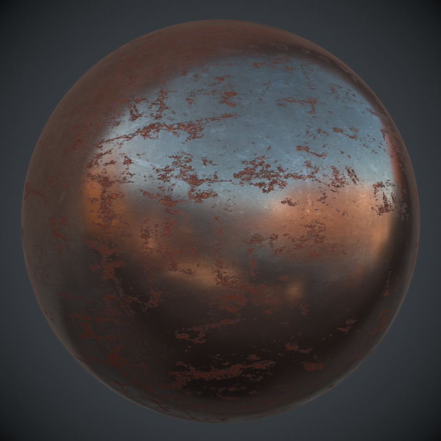 Rusted Streaked Iron PBR Metal Material