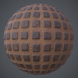 Rough Spaced Tile PBR Material