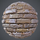 Worn Out Old Brick Wall PBR Material