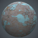 Worn Painted Cement PBR Material