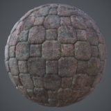 Octogon Stone Cobble PBR Material