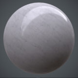 Polished Streaked Marble Top PBR Material