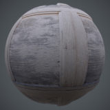 Old Worn Framed Wood PBR Material
