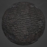 Scorched Wood Charcoal PBR Material