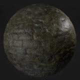 Wet Dungeon Stone PBR Material