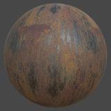 Rust Streaks PBR Metal Material