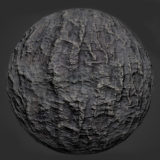 Rock with Vertical Streaks PBR Material