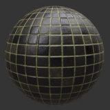 Dark Tile PBR Material