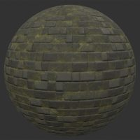 Old Stone Tile PBR Material