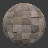Stone Tile 4 PBR Material