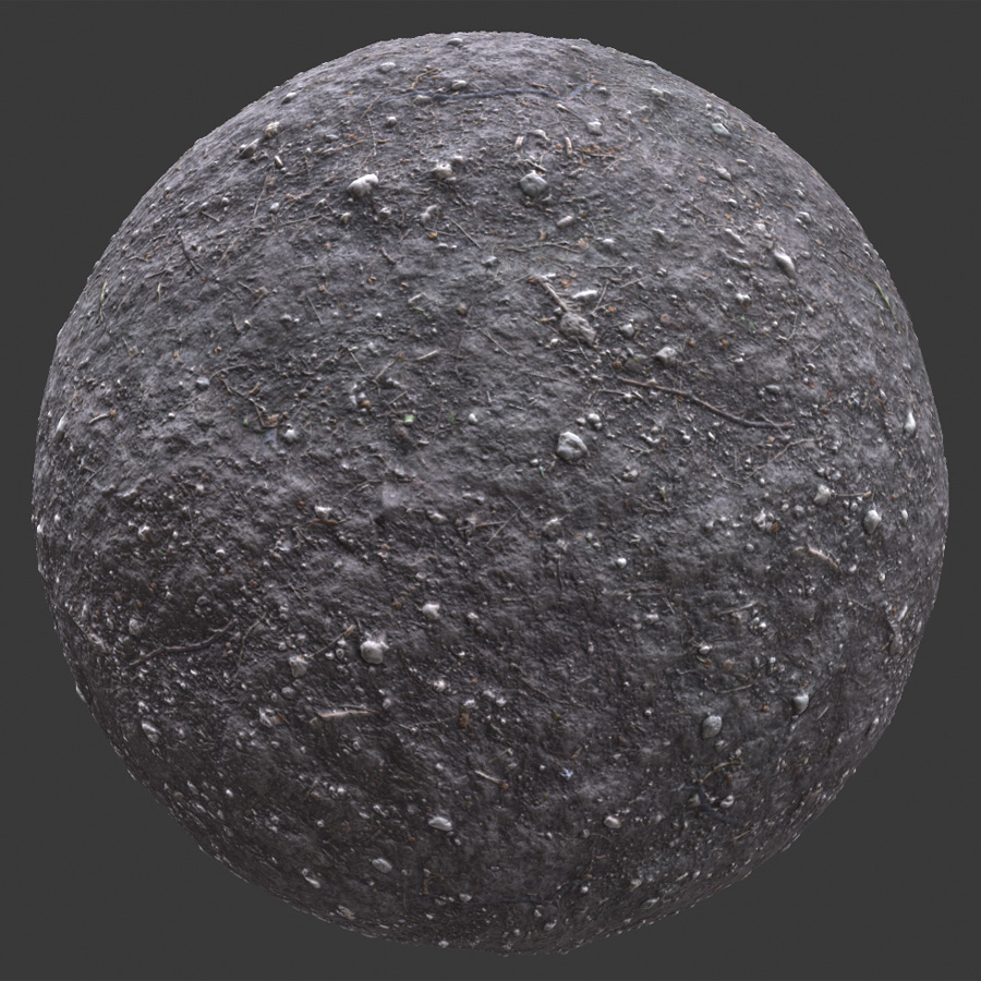 Dirt with Rocks PBR Material