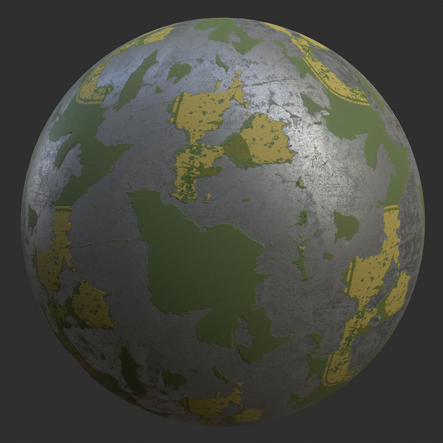 Chipped Paint Metal PBR Material