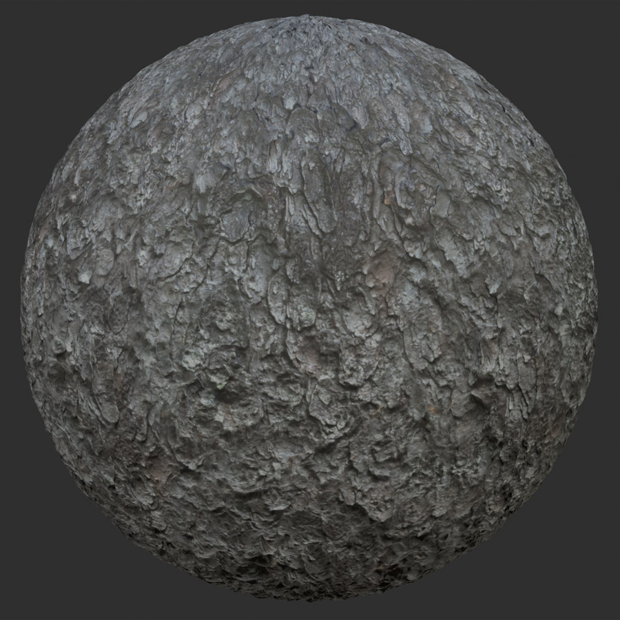 White Spruce Tree Bark PBR Material