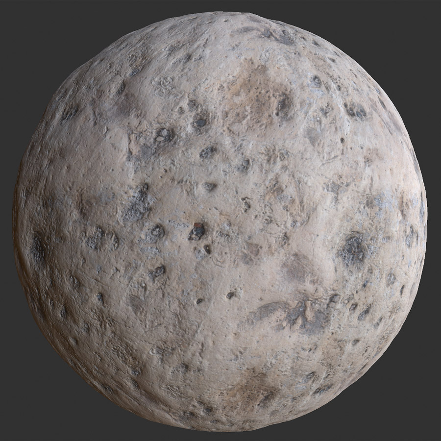 Marked Limestone Rock PBR Material