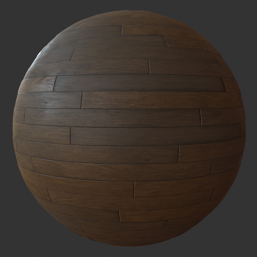 Hardwood Brown Planks PBR Material