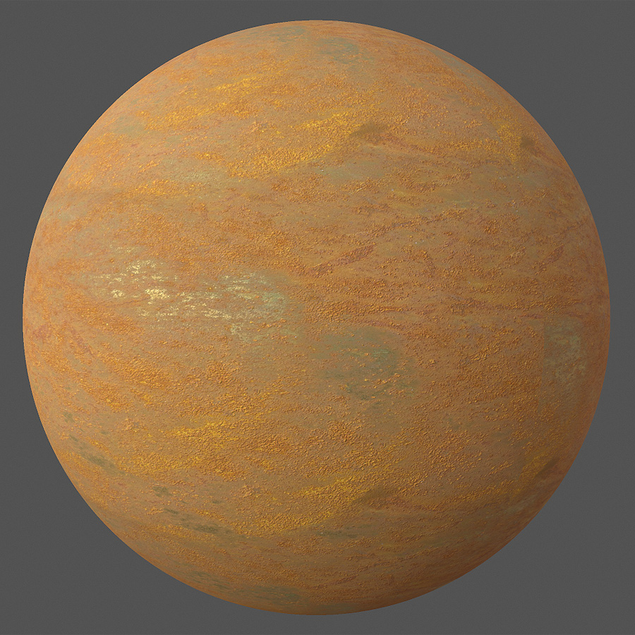Rust Covered Metal PBR Material - Free PBR Materials