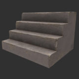 4 Step Stairs PBR Textured Model