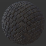 Curved Cobblestone 1 PBR Material