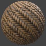 Dirty Wicker Weave 1 PBR Material