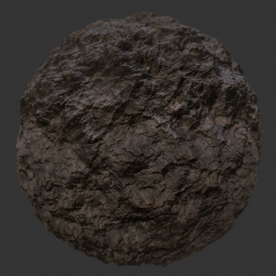 Jagged Rockface 1 PBR Material