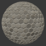 Hex Stone 1 PBR Material