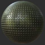 Circle Textured Metal PBR Material