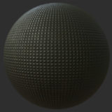 Smoothed Square Textured Metal PBR Material