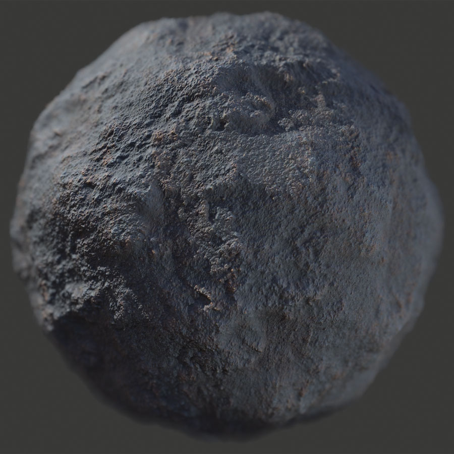 Dark Rough Rock 1 PBR Material