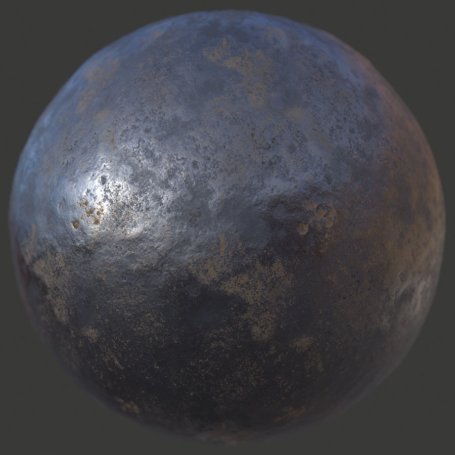 Beaten Up Metal 1 PBR Material
