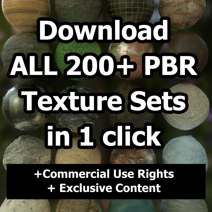 Download ALL (200+) PBR Texture Sets Now