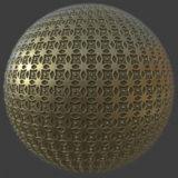 Fancy Brass Pattern PBR Material